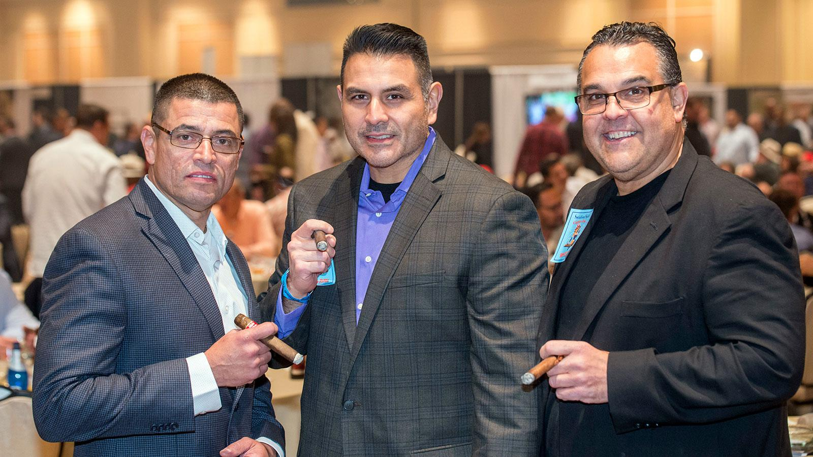 Chicago Police Officers Ralph Lopez, Art Torres and Eddie Pacheco enjoying fine smokes.