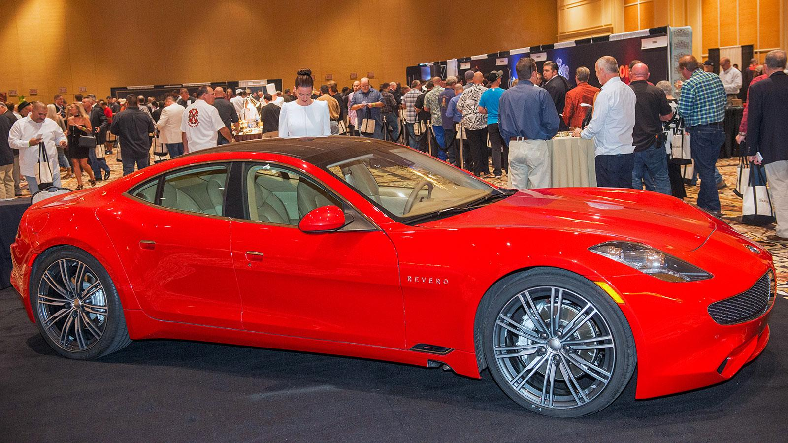 The new Karma Revero, a luxury hybrid automobile, graced the showroom floor.