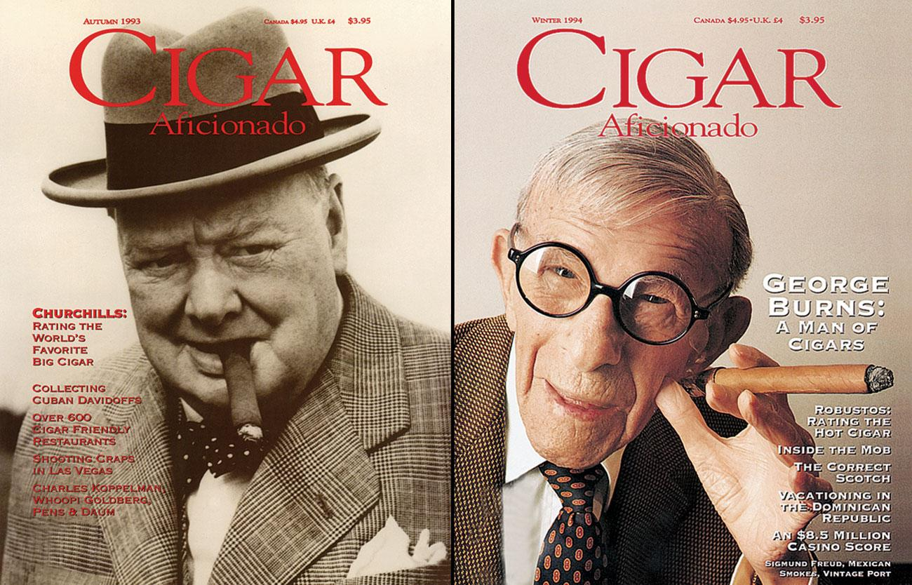 Readers will choose between two of the most iconic cigar smokers of all time as Sir Winston Churchill takes on George Burns.
