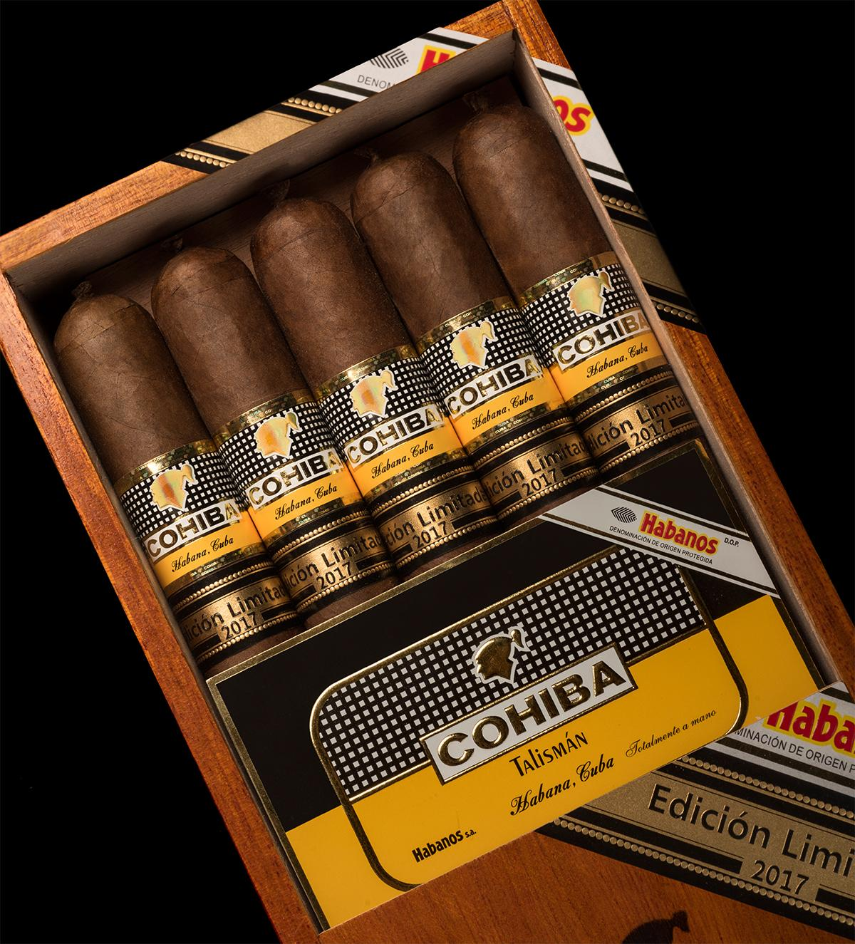 The Cohiba Talismán is fairly fat for a Cuban cigar, with a 54 ring gauge and a length of 6 1/8 inches.