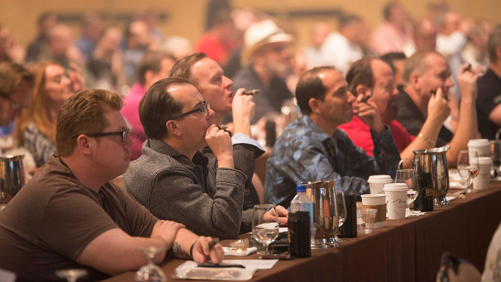 The educational seminar revolved around four key maxims: band recognition, understanding packaging, understanding Cuban Limitada releases, and knowing the base prices of common Cubans around the world.