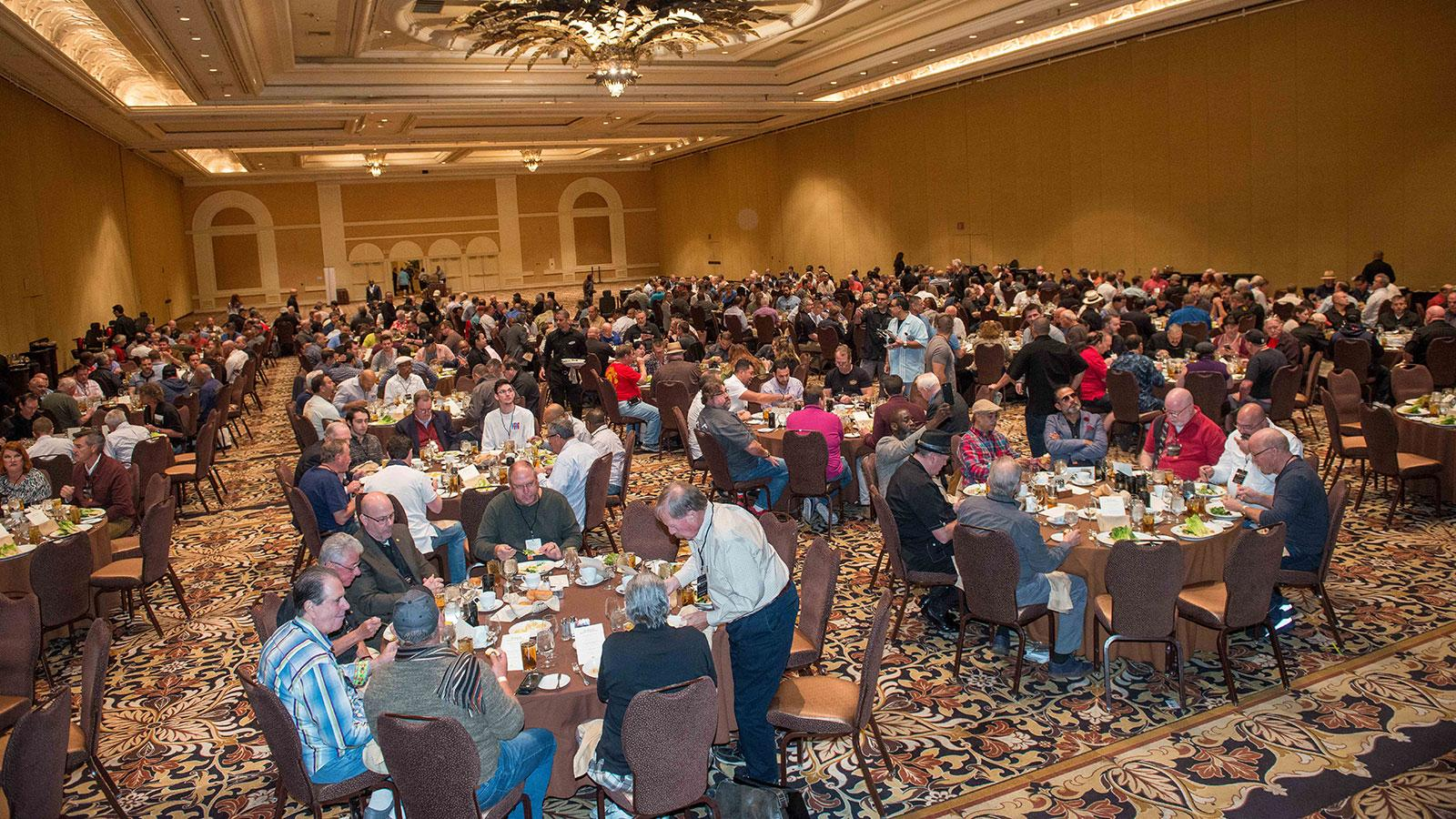 Guests dining inside the Grand Ballroom.