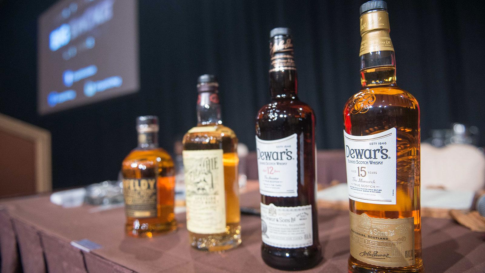 The seminar included a tasting of two single-malt Scotches, Aberfeldy 12 and Craigellachie 13, as well as two blends, Dewar's 12 and Dewar's 15.