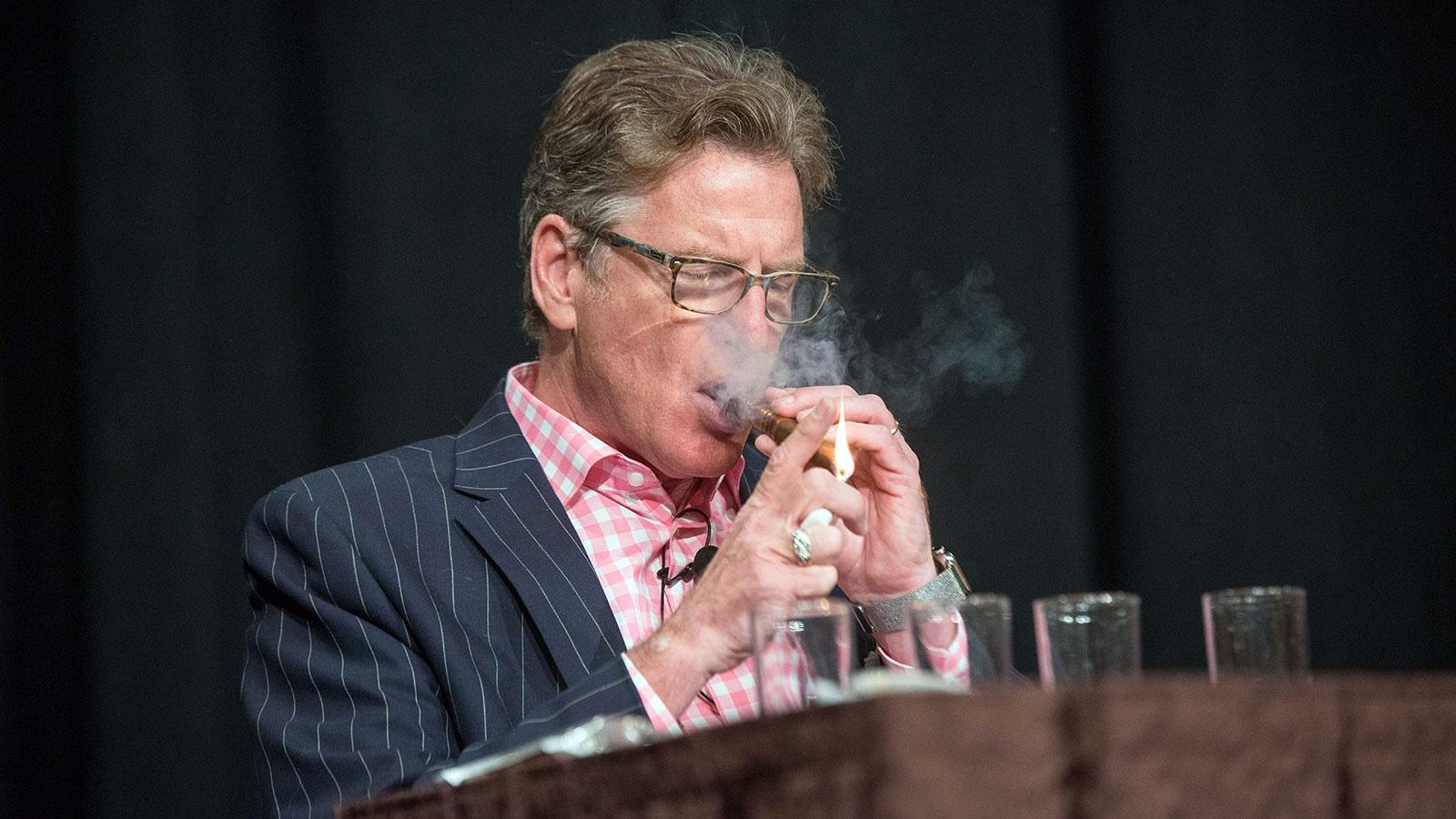 Cigar Aficionado senior features editor Jack Bettridge and spirits guru led the Scotch pairing seminar.