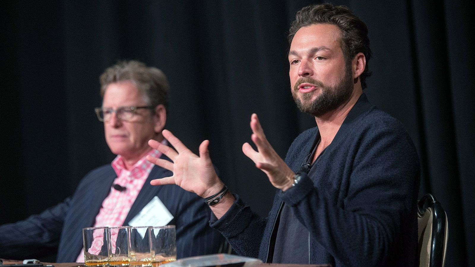 Gabe Cardarella, North American Whisky Ambassador at Bacardi, joined Bettridge up on the stage for the seminar.