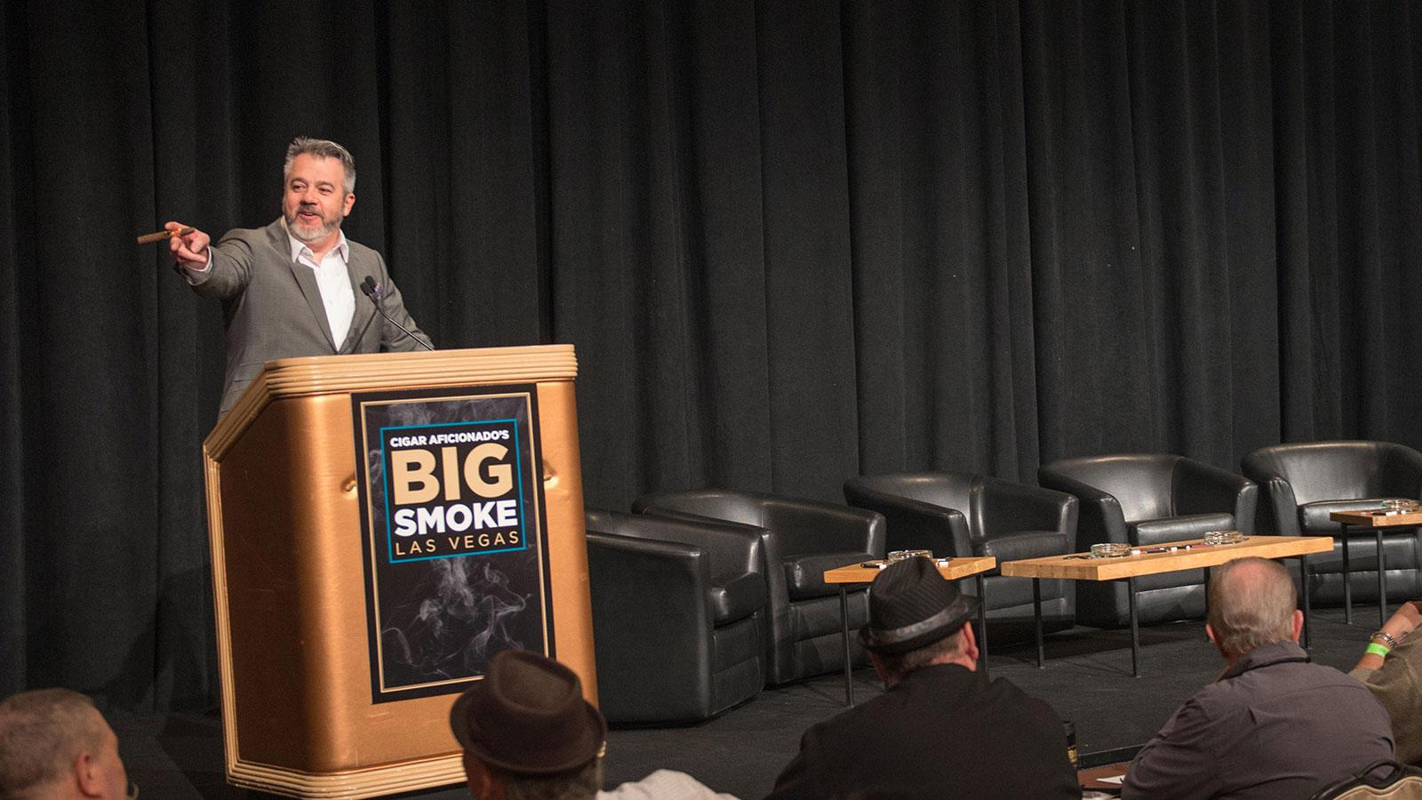 Executive editor David Savona welcoming everyone to the Big Smoke Seminars on Saturday morning.
