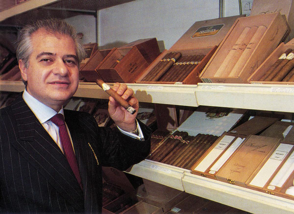 Edward Sahakian, puffing in London in 1993.