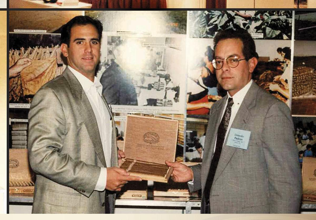 Jorge (left) and Orlando Padrón in 1993, at their company's first trade show.
