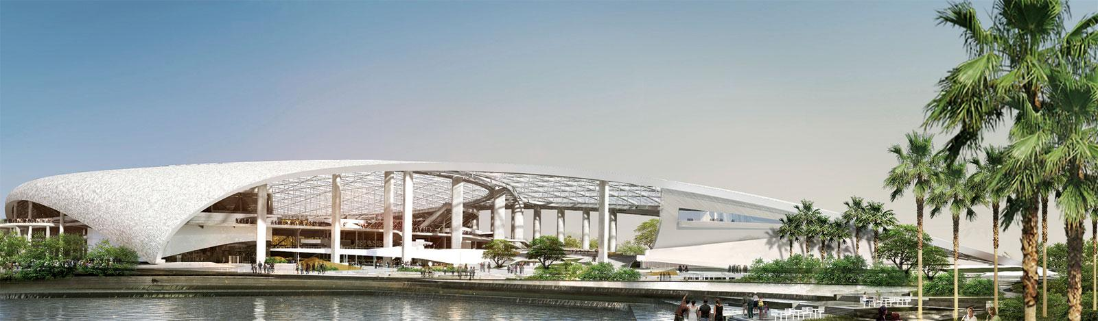 L.A. Stadium, opening in 2021 with a performance center, retail space and residences, will be like a city within a city.