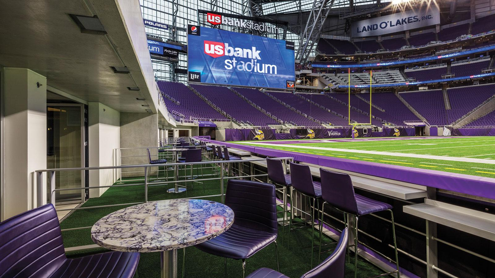 U.S. Bank Stadium's premium offerings include the luxurious Turf Club Suites, which put fans 25 feet from the playing  eld, among the closest seats in all of the NFL.