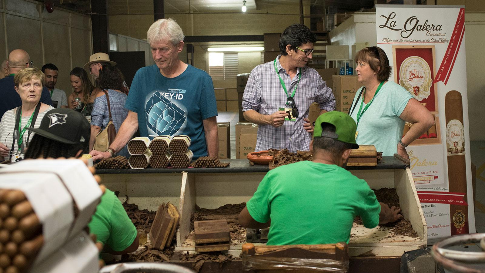 Guests visit the La Galera cigar factory in the Dominican Republic during last year's ProCigar Festival.