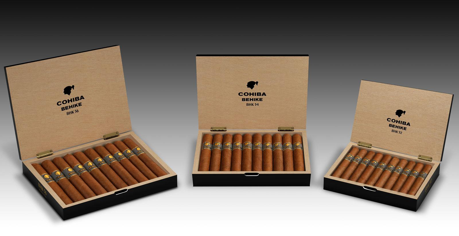 Authentic 10-count boxes of Cohiba Behike.