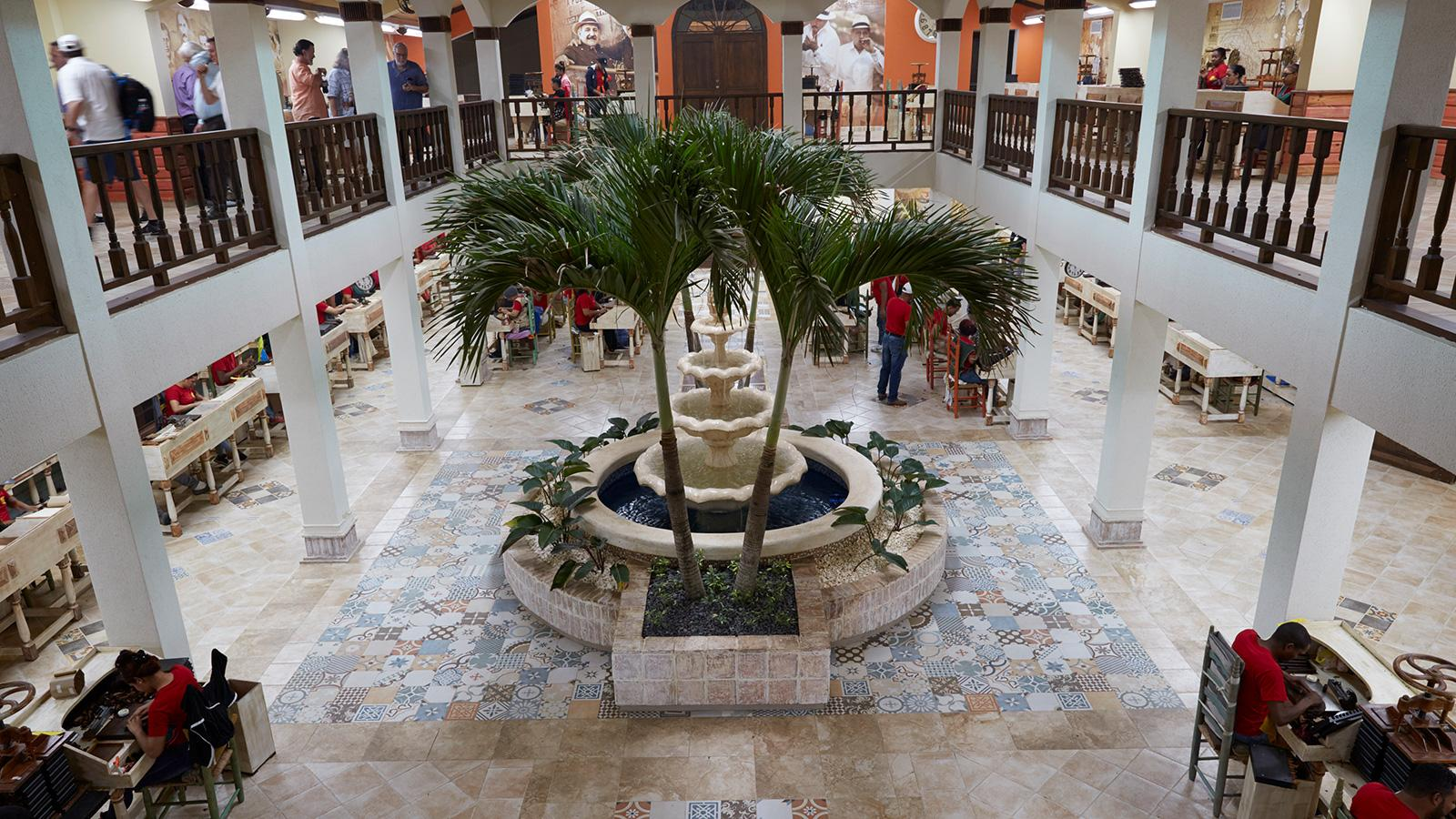 overhead view of new Fuente factory courtyard