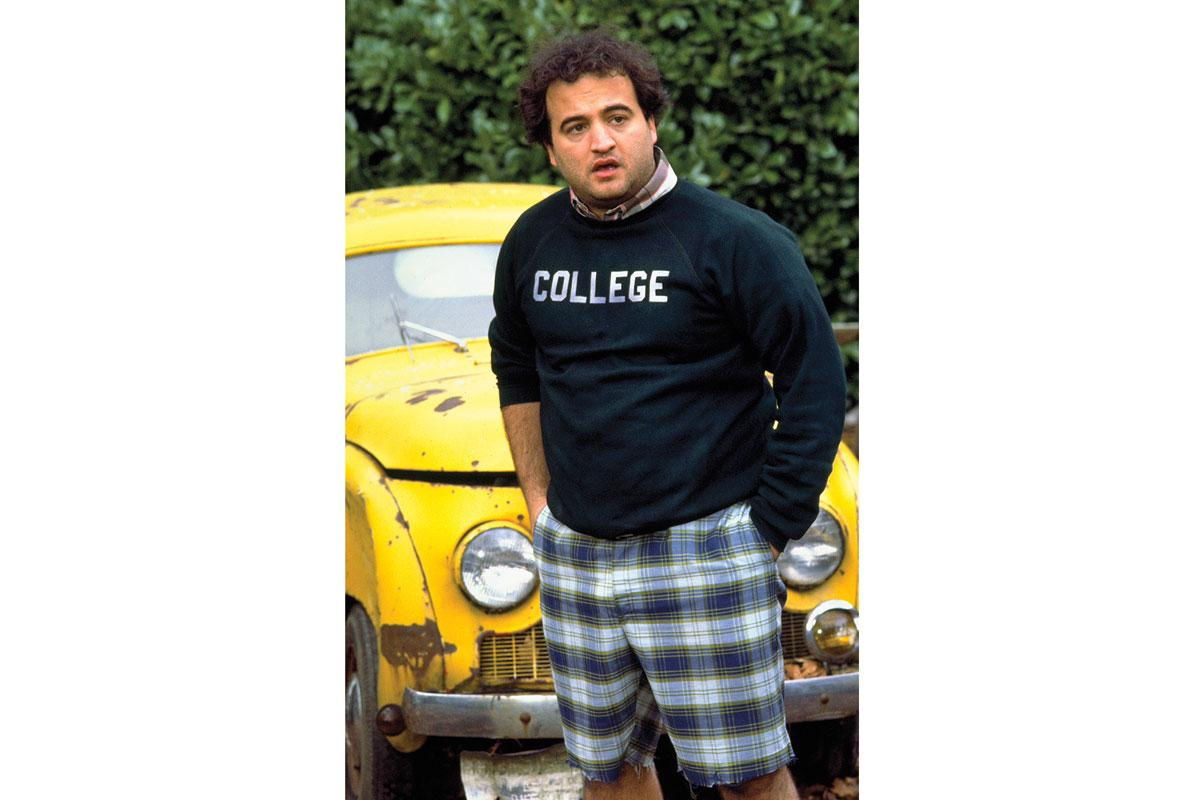 John Belushi, in character as the out of control party animal Bluto Blutarski, in the film that made him a superstar. Four years after the 1978 debut of Animal House, Belushi would be dead at the age of 33.