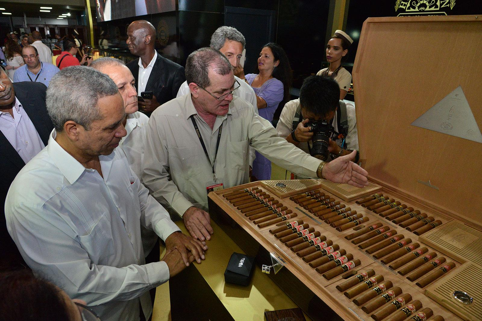A giant humidor commemorating 20 years of the Habanos Festival.