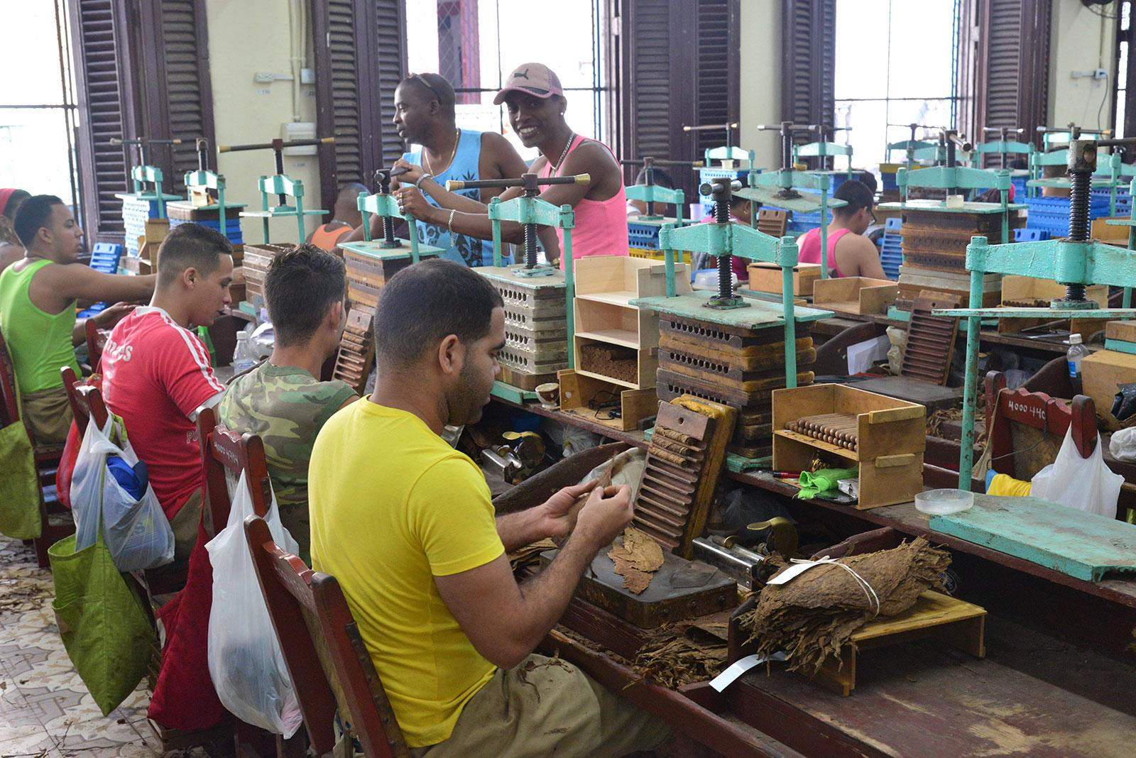 Though Habanos operates a number of factories throughout Cuba, this year, the U. Upmann factory was the only facility open to the tour.