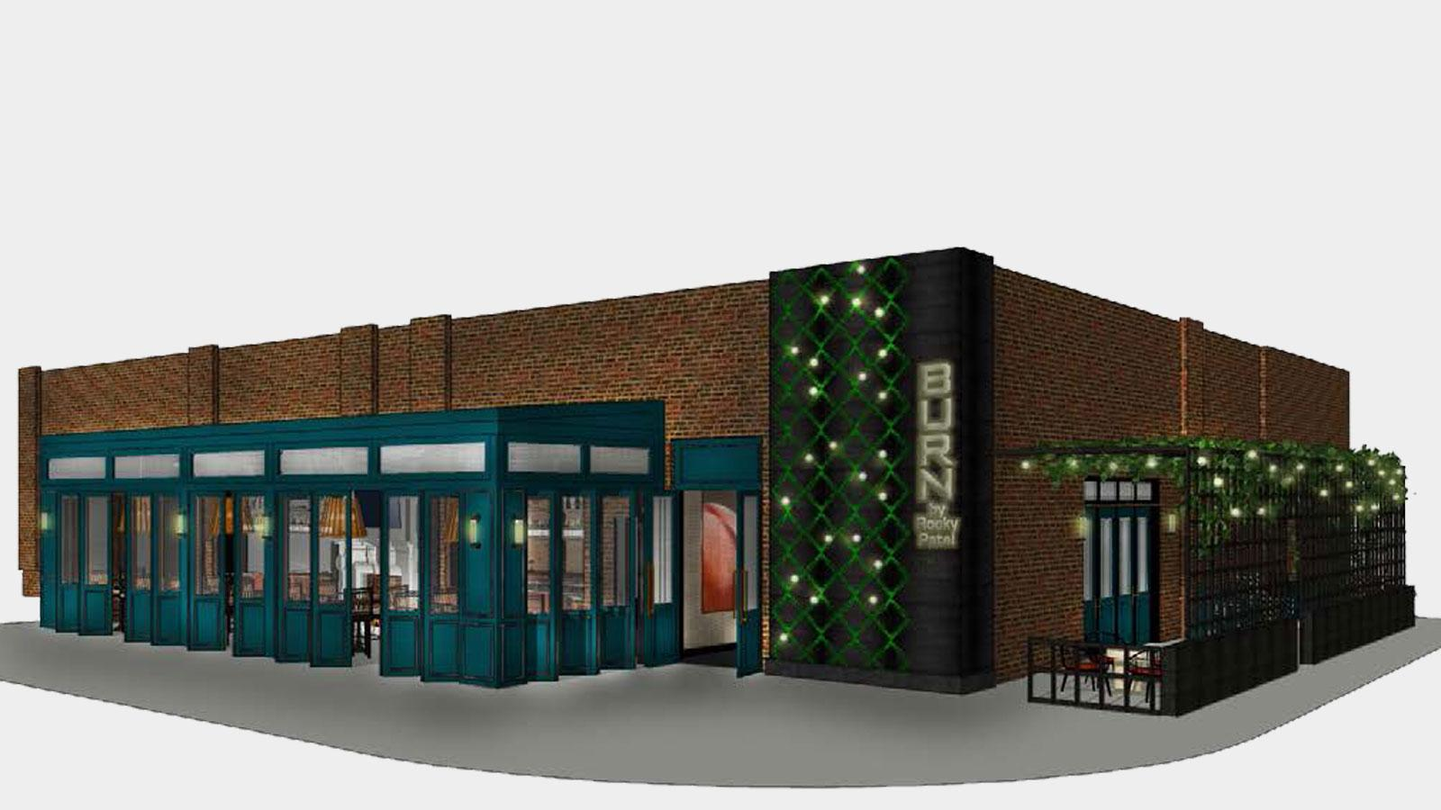 A rendering of the upcoming Atlanta location's exterior.