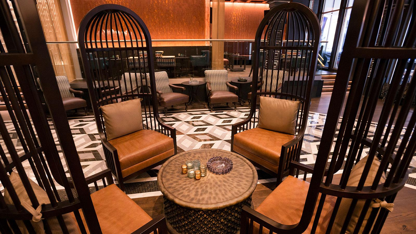Rocky Patel plans on keeping Burn upscale. You can see it in the details, from the smart furniture down to the tiled floors.