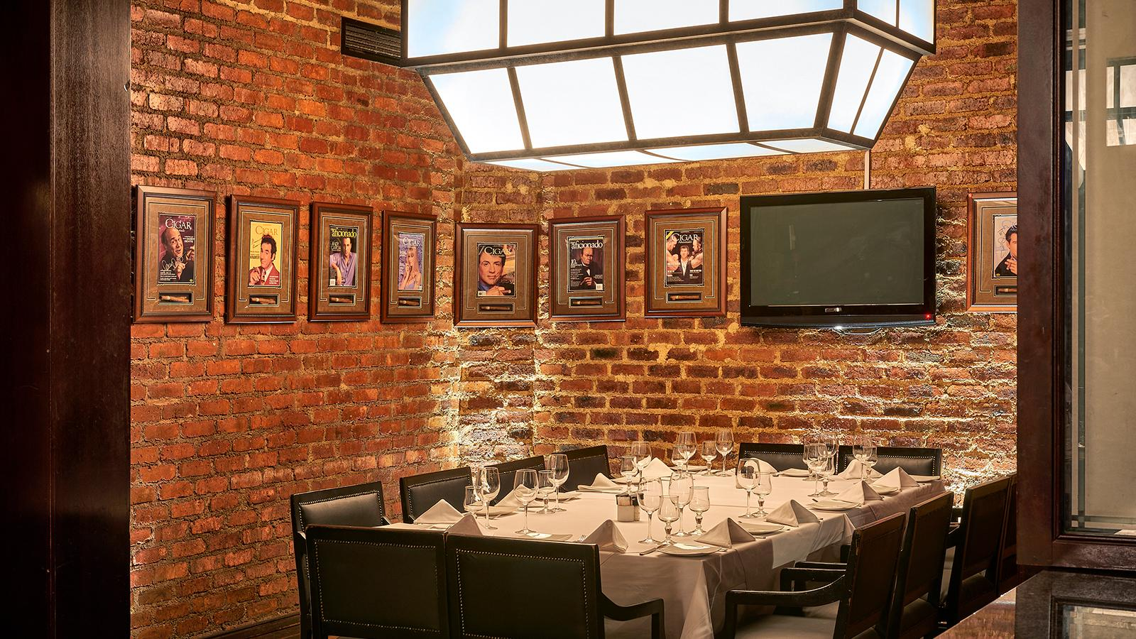 Adorning the walls at Katzy's are several Cigar Aficionado covers, with many featuring the autographs of its celebrity subjects.