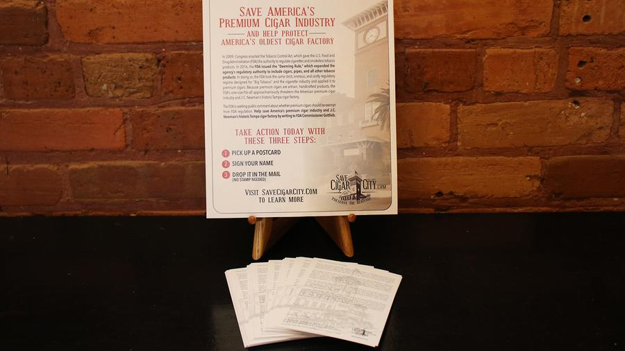 J.C. Newman Distributes FDA Comment Cards To Cigar Retailers