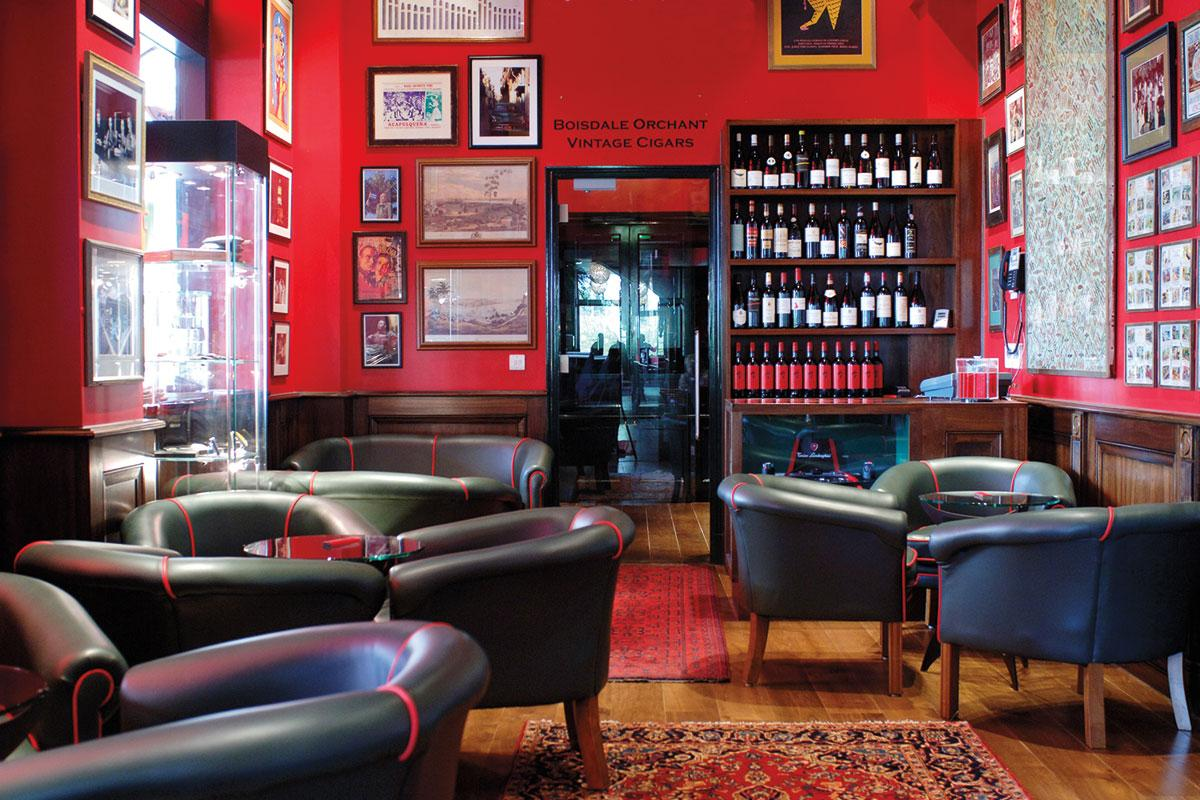 London's renewed cigar friendliness extends to a handful of restaurants. Boisdale of Canary Wharf provides two separate smoking venues as well as a Scotch whisky menu numbering 900.