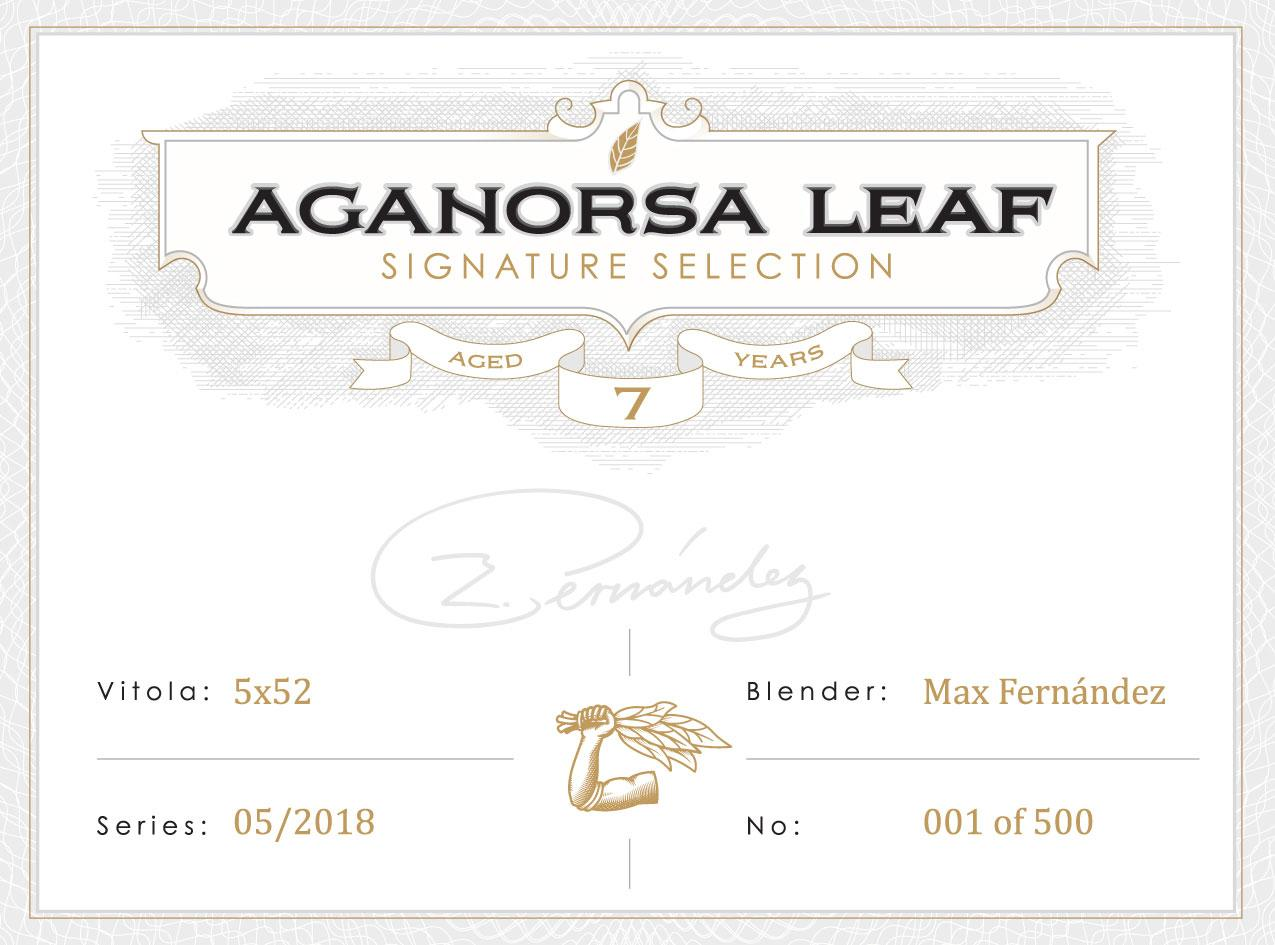 Aganorsa Leaf Signature Selection box seal.