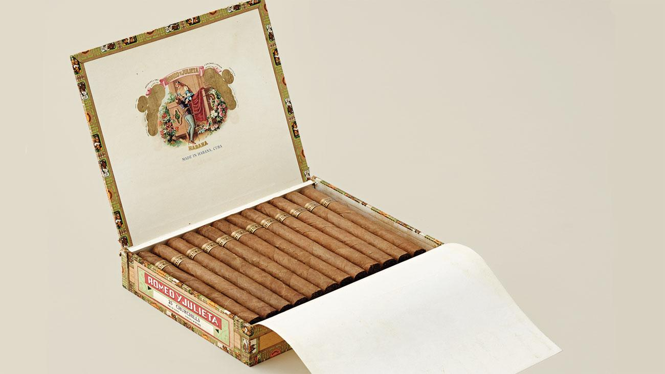 Vintage Romeo y Julieta Churchills, one of the most famous Cuban cigars.