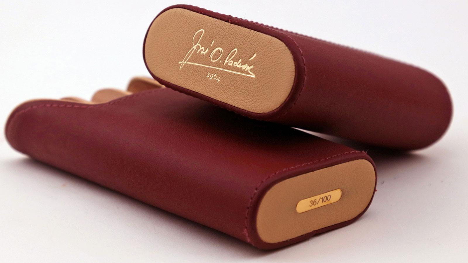 For Padrón, Brizard has crafted a burgundy leather cigar case called The Little Hammer.