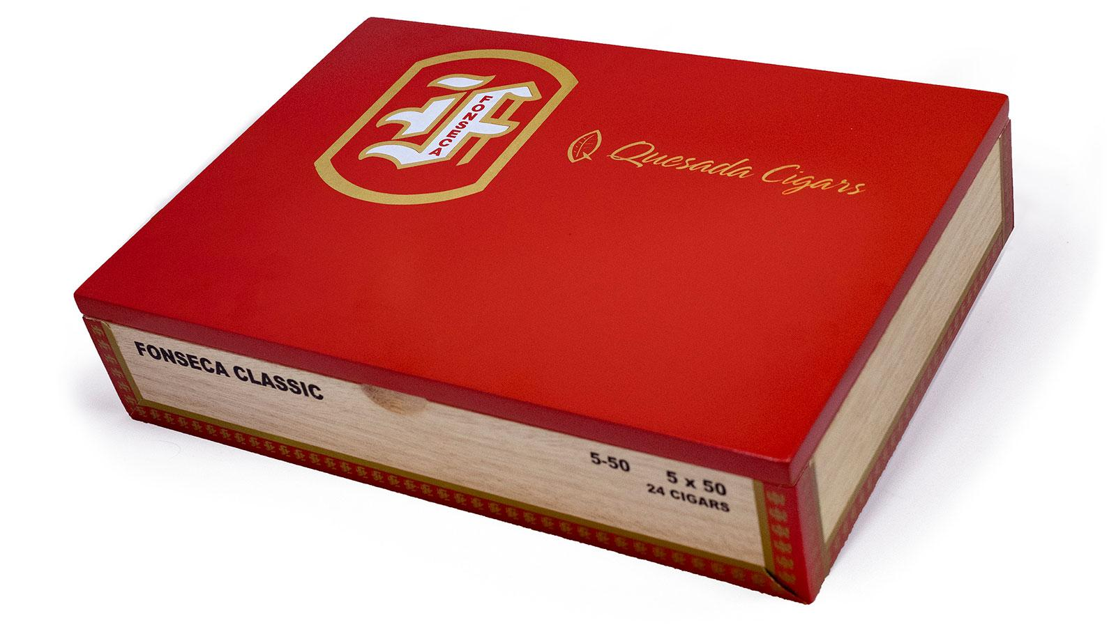 The plain cedar cigar boxes emblazoned with the familiar Fonseca logo have been updated with more modern-looking wooden boxes, complete with a bright red lid.