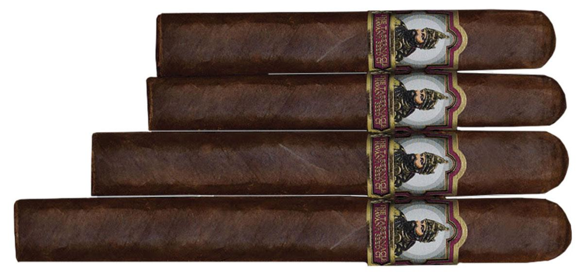 Havana Seed #142 comes in four sizes (from top): Robusto, Corona, Toro and Double Corona.