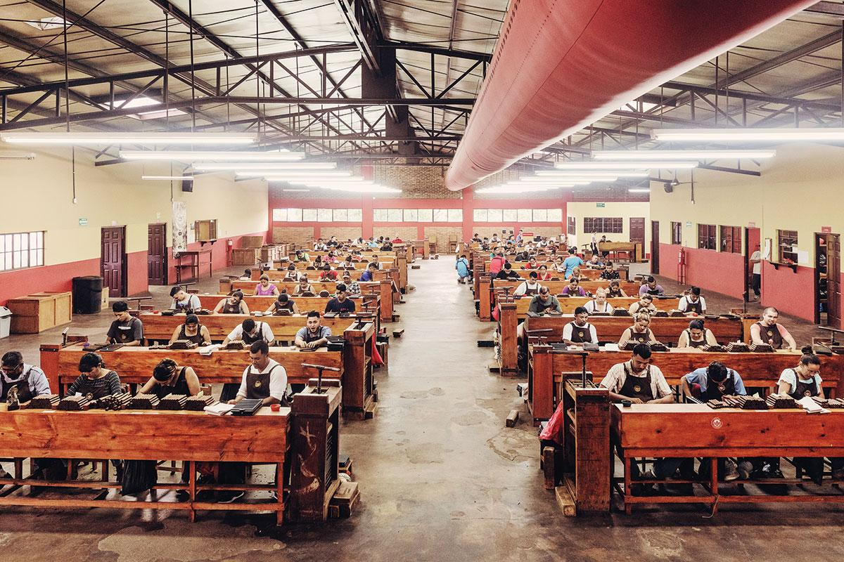 The main rolling room at Joya de Nicaragua, a brand that was first made 50 years ago.