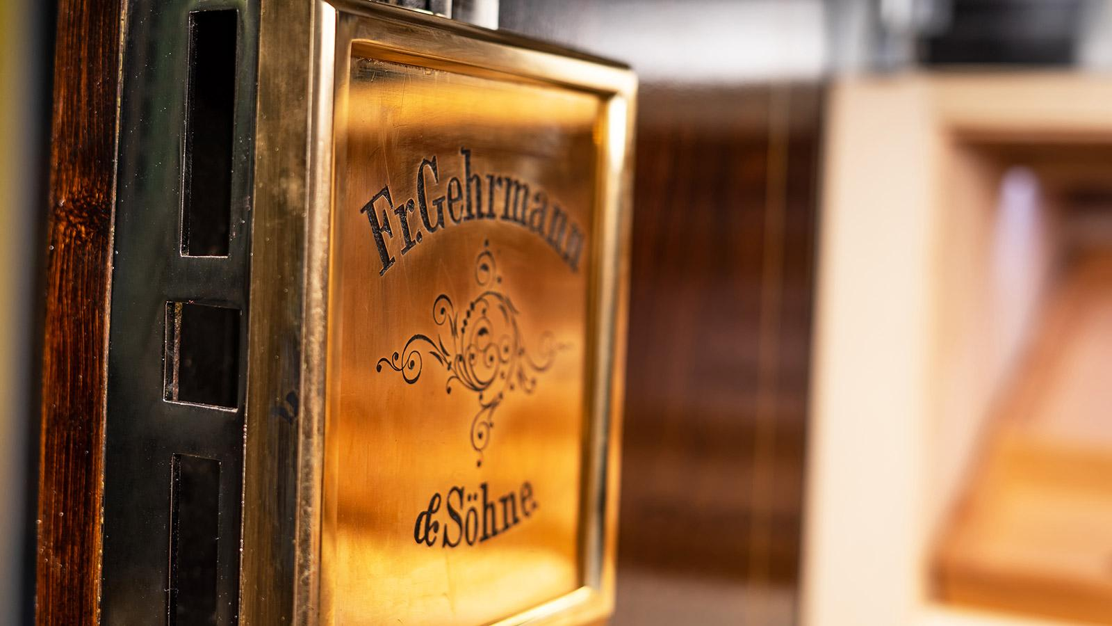 The insignia on one of the locks reads Fr. Gehrmann and Söhne, presumably the company that built the original safe.