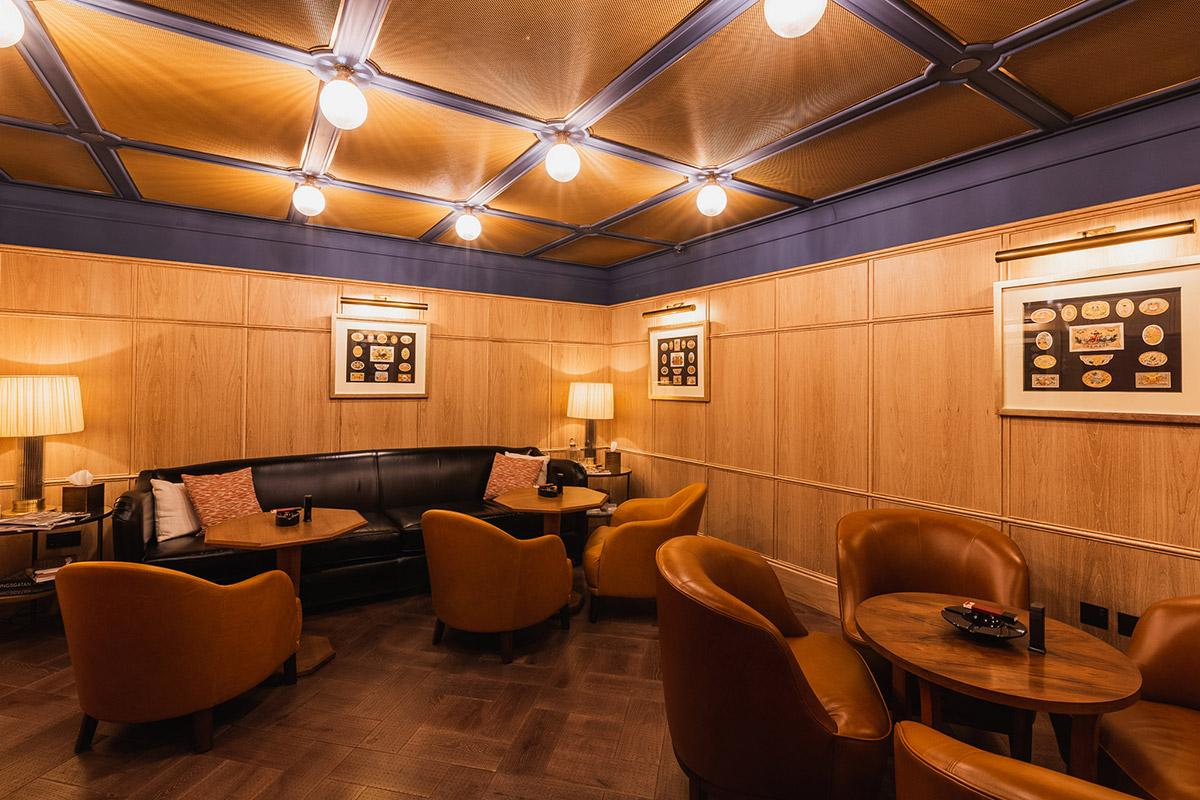 "A ""sampling lounge,"" otherwise called a smoking room, was added in the renovation."