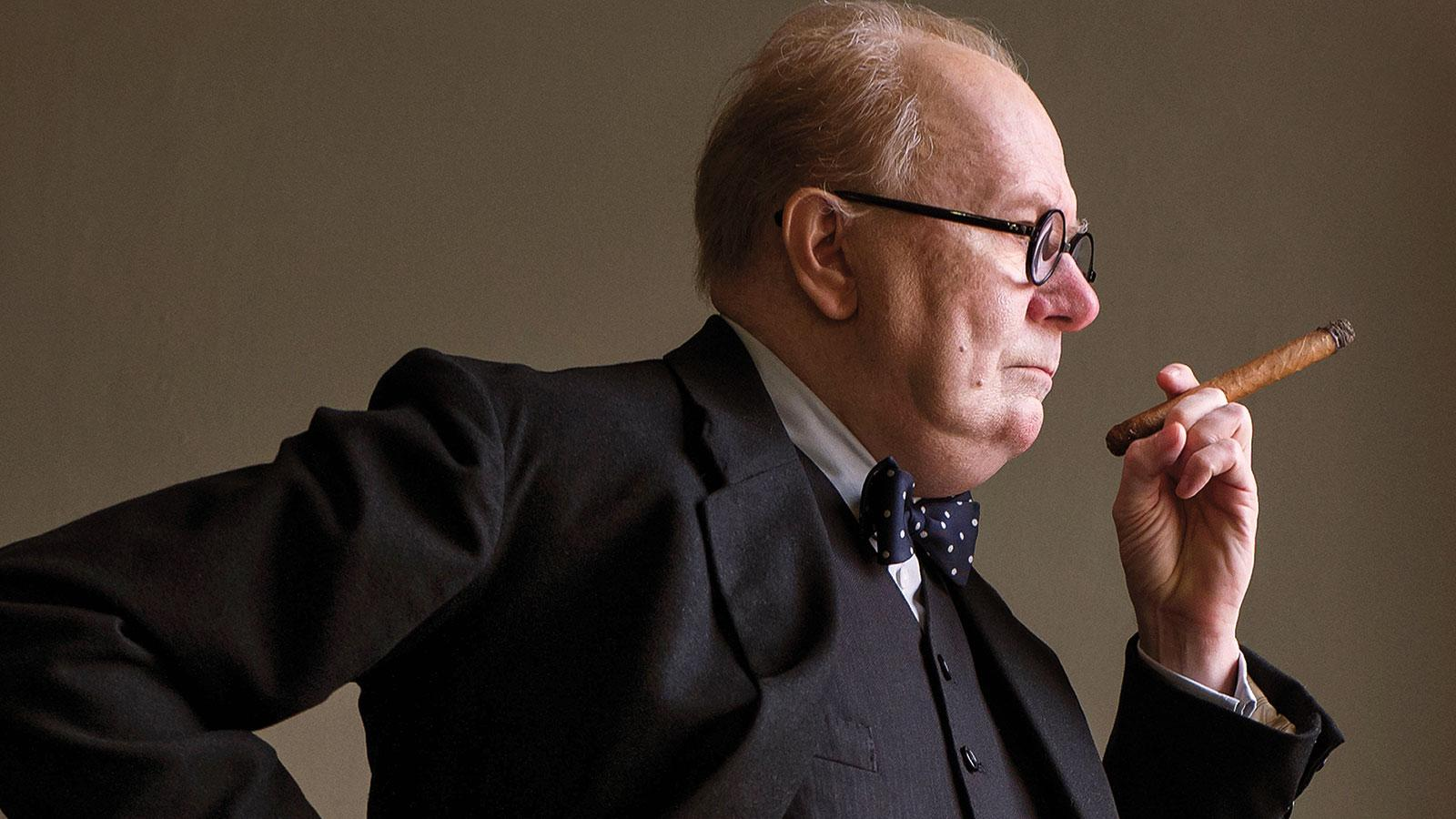 Winston Churchill portrayed by Gary Oldman in the film Darkest Hour.