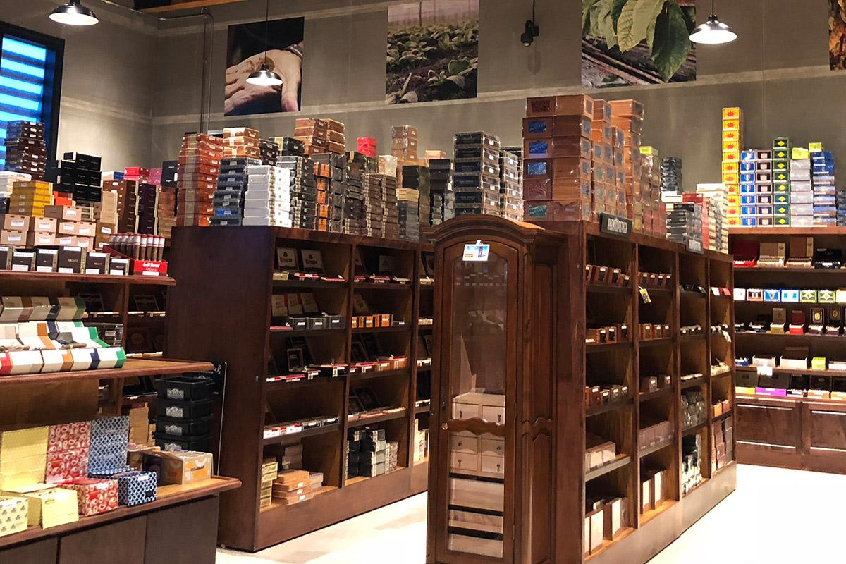 A look inside the Super Store's 2,500 square foot glass-enclosed humidor.
