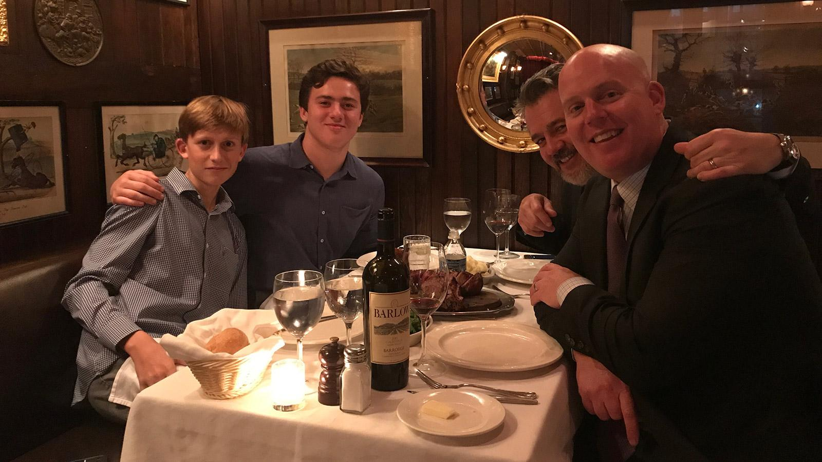 The 2018 dinner at Keens Steakhouse.