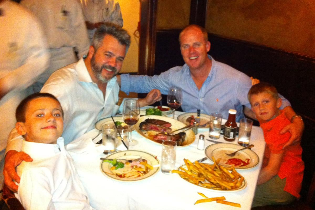 The inaugural Father-Son Steak Night at Wolfgang's Steakhouse in 2011.