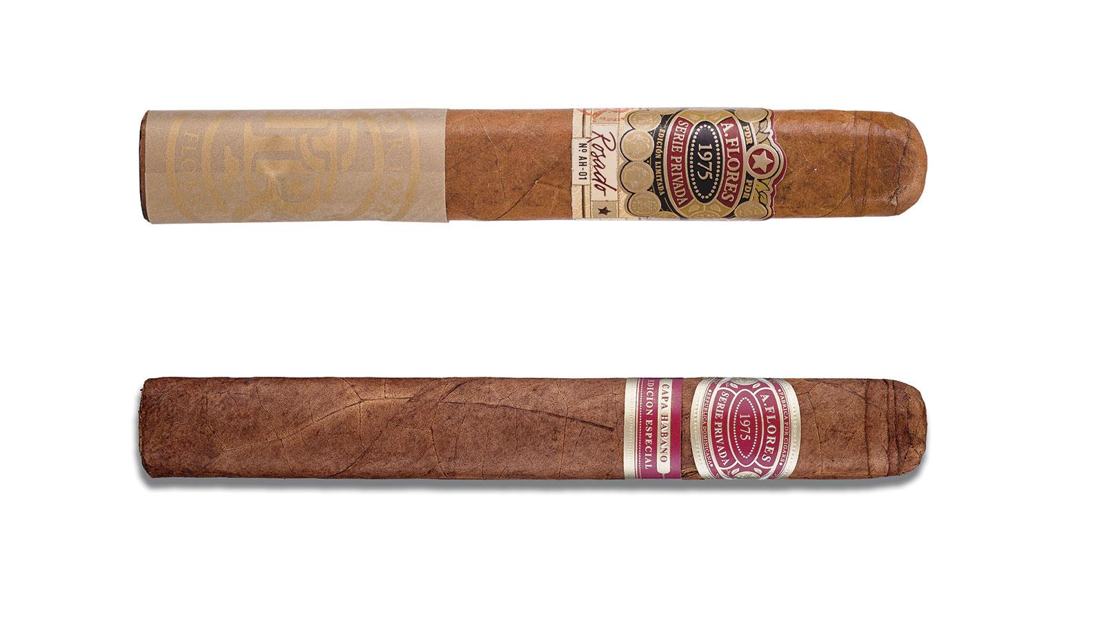 The new A. Flores 1975 Serie Privada (top) compared to the old.