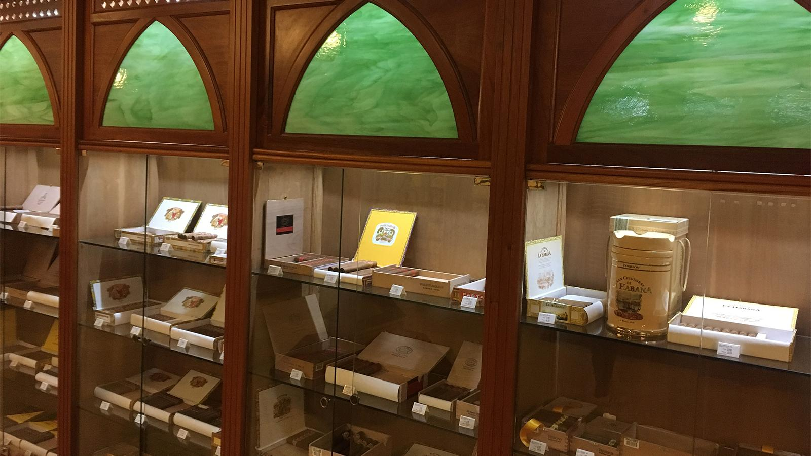 Humidor inside the La Casa del Habano at the Habana Libre Hotel.