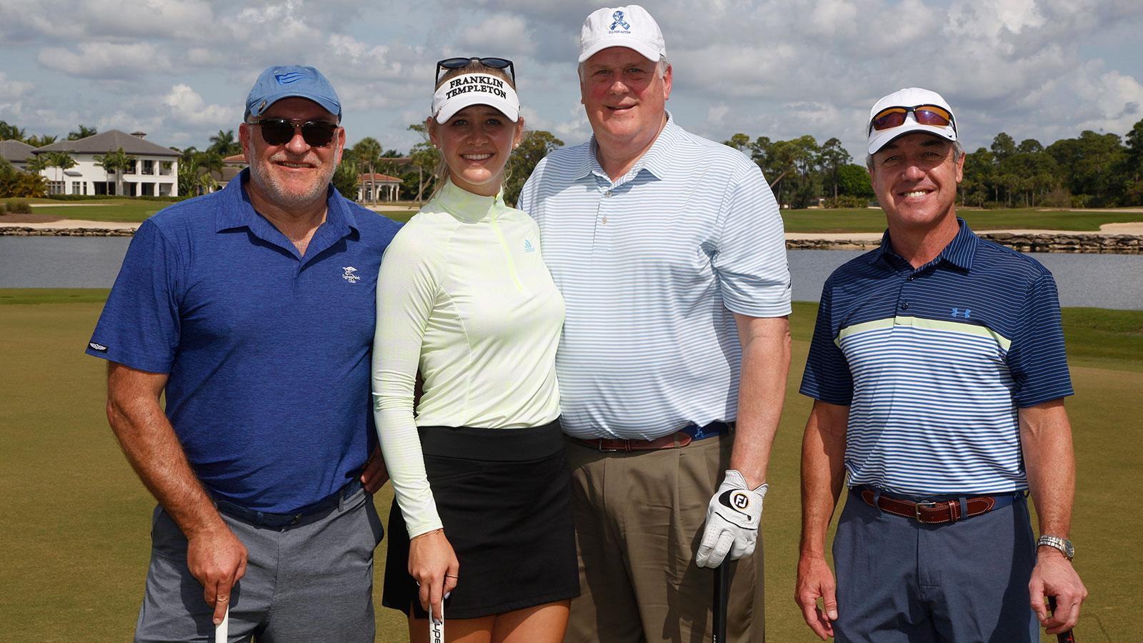 The winning team, featuring LPGA star Jessica Korda, shot 55. Her playing partners are Steve Collis, Steve Peck and Jerry DeMuro.
