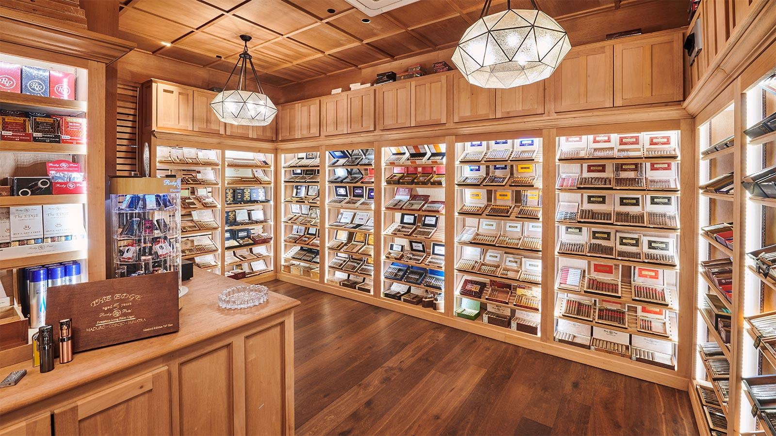 The humidor at Burn by Rocky Patel, Atlanta.