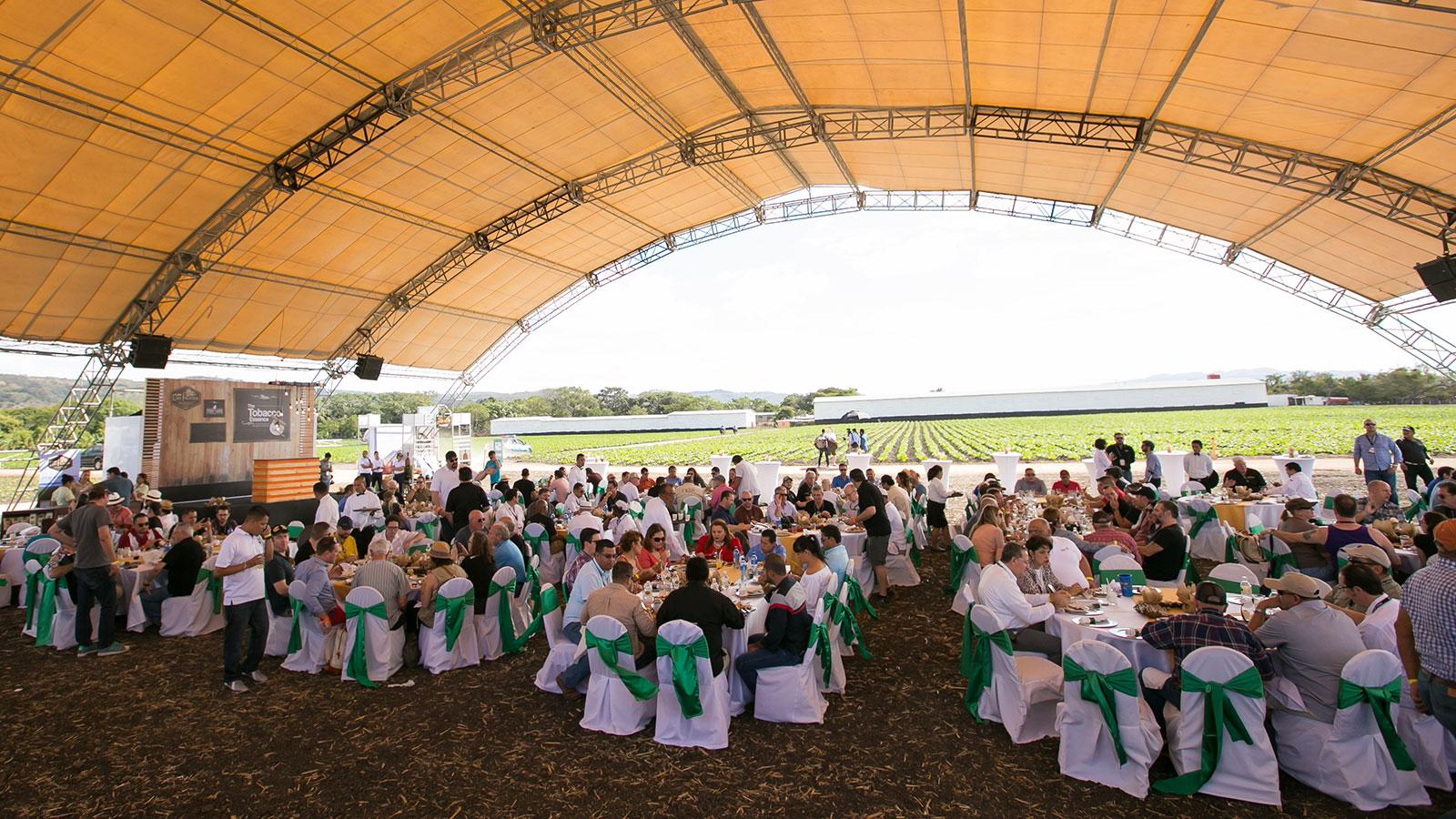 A lunch at My Father Cigars' La Estrella tobacco plantation during the 2017 Puro Sabor festival.