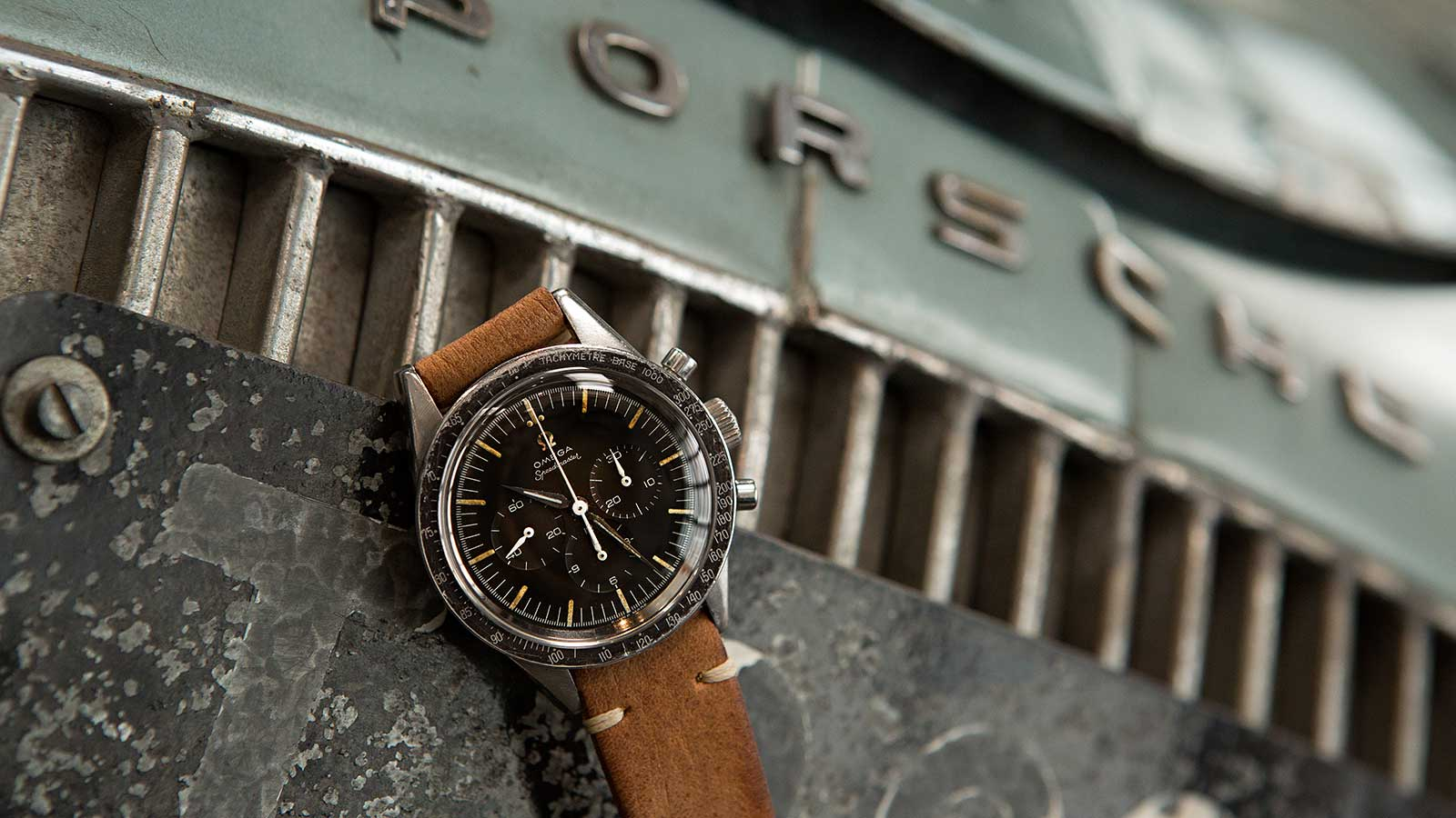 "This stainless steel Omega Speedmaster, Ref. 2998-1, with ""Tropical"" dial, may fall under the hammer for $35,000 to $55,000."
