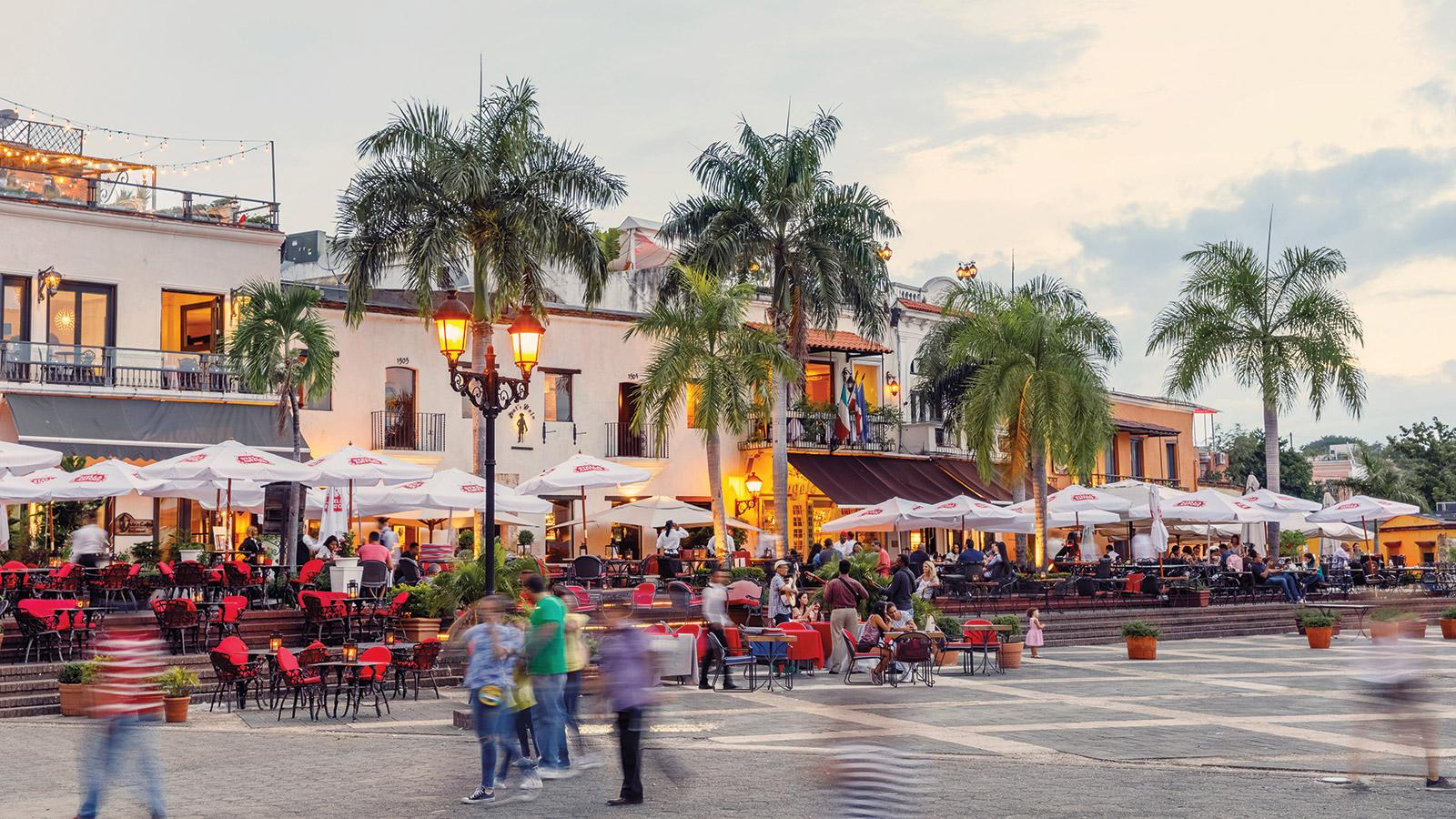 The Plaza de España showcases the beauty and energy of Santo Domingo, the capital of the Dominican Republic.