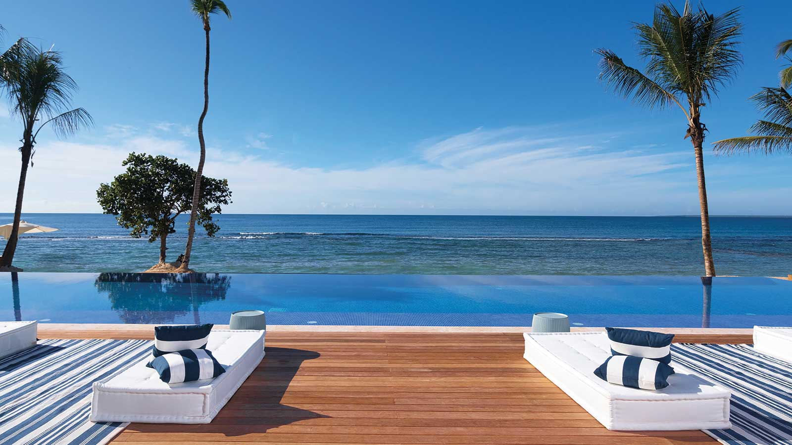 Each villa has a private pool, some are on the ocean and others overlook one of the golf courses.
