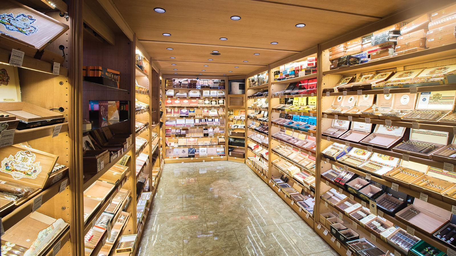 Casablanca Cigar Bar humidor in Asheville