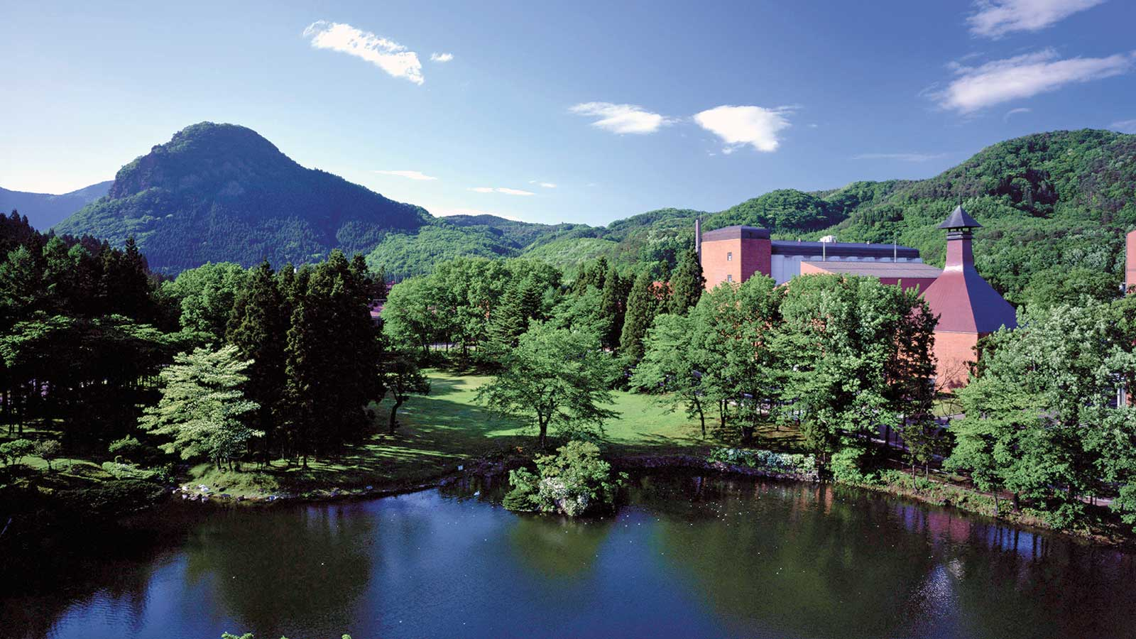 As in Scotland, the Japanese placed their distilleries in mountainous venues (Miyagikyo, this photo) as well as near the coast.