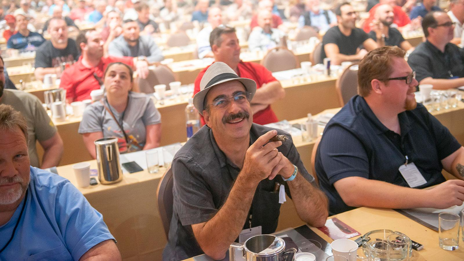 Making cigars with a smile at the Big Smoke.