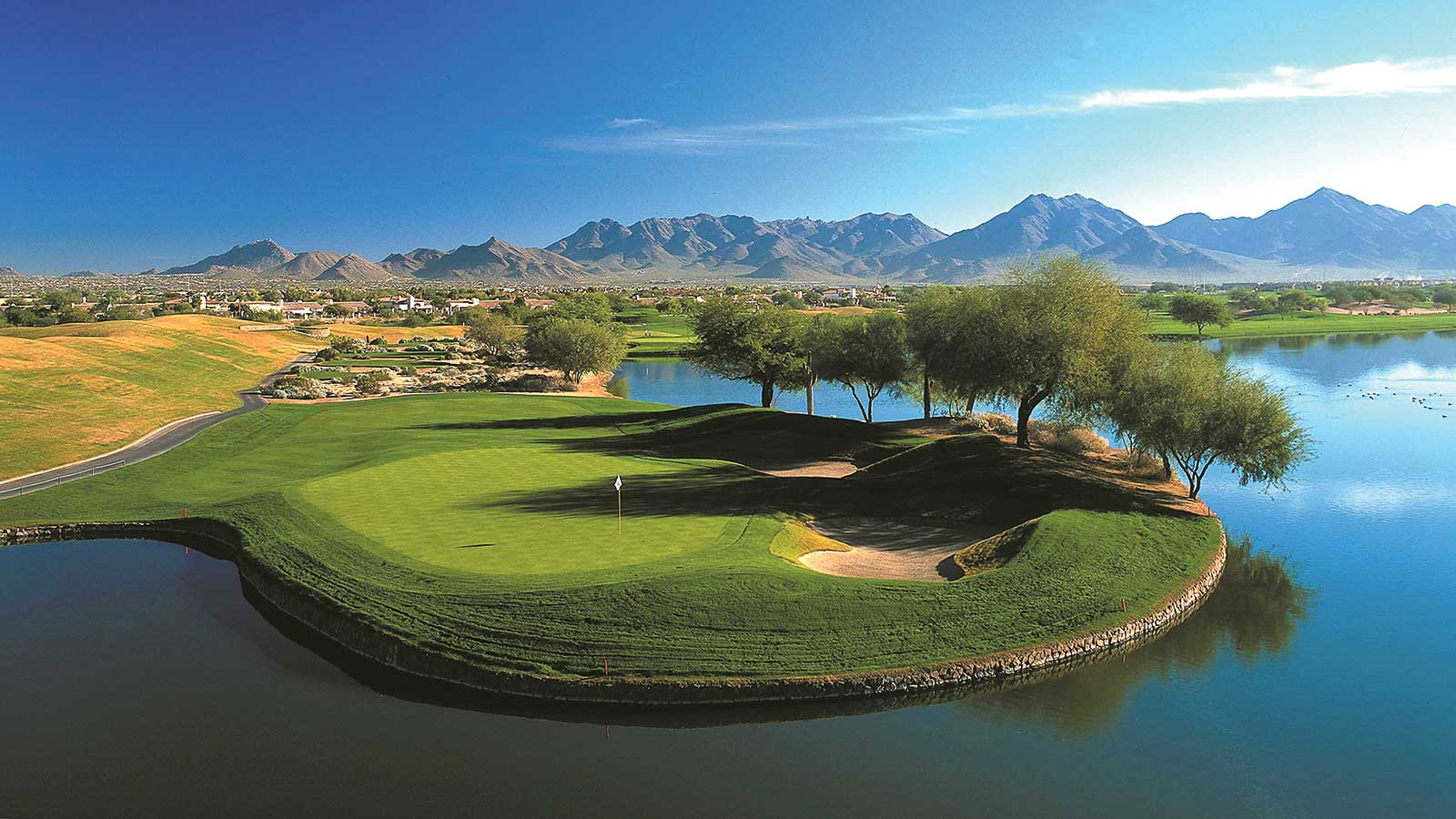 The TPC Scottsdale Stadium Course offers stunning beauty that defies its arid climate.