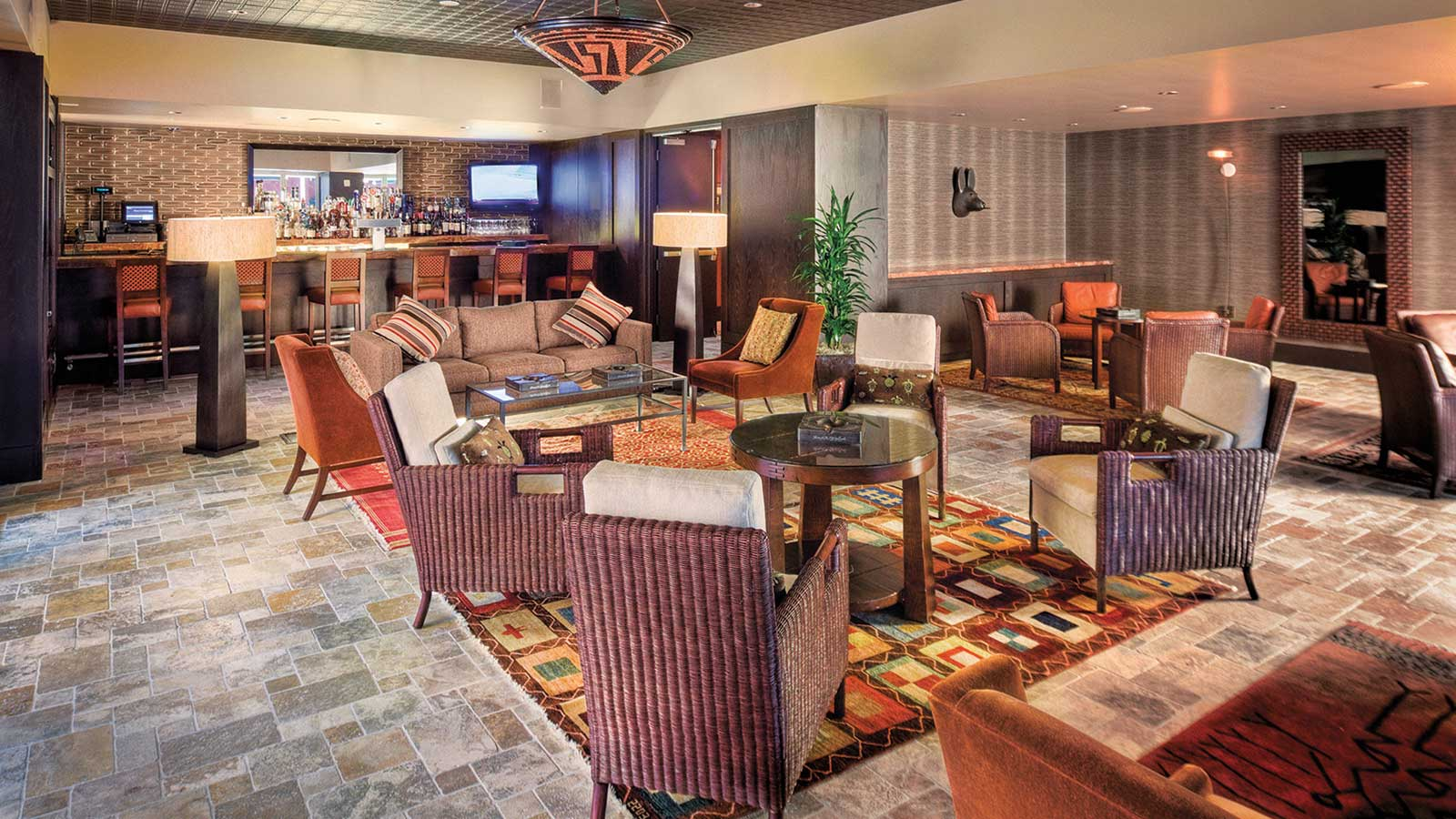 The Talking Stick Shadows Cigar Lounge is a cigar aficionado's haven, with an impressive selection of Scotches and cigars.